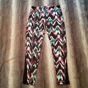 Girls watercolor athletic leggings size 10/12